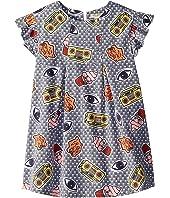 Kenzo Kids - Printed Ruffle Short Sleeve Dress (Little Kids)
