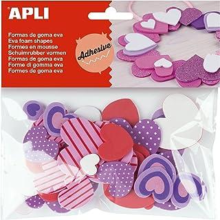 APLI - Bolsa formas EVA adhesiva estampada formas corazón,