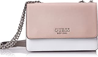 Guess Womens Cross-Body Handbag, Mauve Multi - VM767221
