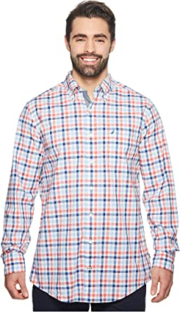 Big & Tall Gingham Plaid Woven Shirt