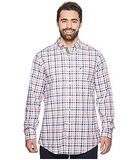 Big & Tall Gingham Plaid Woven Shirt