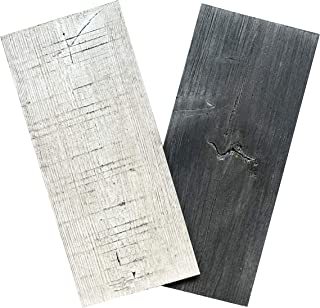 Art3d Shiplap Peel and Stick Wood Planks Wood Paneling for Walls (Samples, Dark and Light Gray)