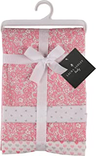 Laura Ashley 4 Piece Laddered Receiving Blankets, Kendal Print