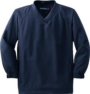 Sport-Tek Youth V Neck Raglan Wind Shirt YST72