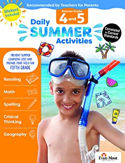 Daily Summer Activities: Moving from 4th Grade to 5th Grade, Grades 4-5