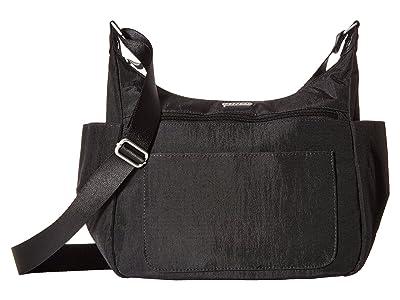 Baggallini Legacy Peekaboo Large Hobo (Black/Charcoal Cheetah) Hobo Handbags