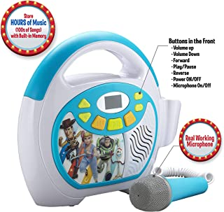 Toy Story 4 Bluetooth Sing Along Portable MP3 Player Real Working Microphone Storesup To 16 Hours of Music with 1 GB built in memory USB Port To Expand Your Content built in Rechargeable Batteries