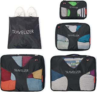 Travelizer - Travel Packing Cubes 5 pcs Luggage Organizer Set for Bag & Suitcase