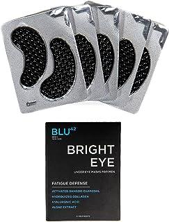 ماسک های زغال فعال زیر چشم برای مردان توسط Blu42 - لکه های روشن چشم از حالت خستگی روشن چشم ، از بین بردن دایره های تیره ، چروک و پف صورت - آبرسان ، ضد پیری ، ضد چروک - 5 درمان