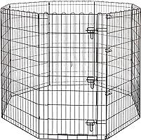 Amazon Basics Składany metalowy kojec dla zwierząt domowych, psów, do treningu i do 152,4 x 152,4 x 121,9 cm