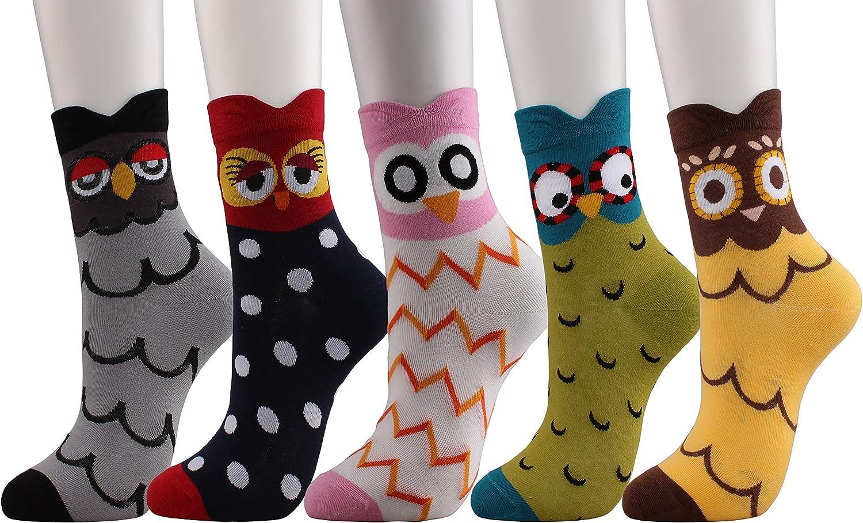 Womens Girls Cute Fun Crazy Animal Catoon Socks