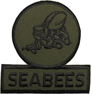 US Navy Seabee Equipment Operator EO Rating Patch 4 1/2 x 3 1/4 Licensed Militaria Accessoires, losse onderdelen