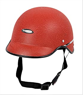 Motofy Habsolite All Purpose Safety Helmet with Strap (Red, Free Size)