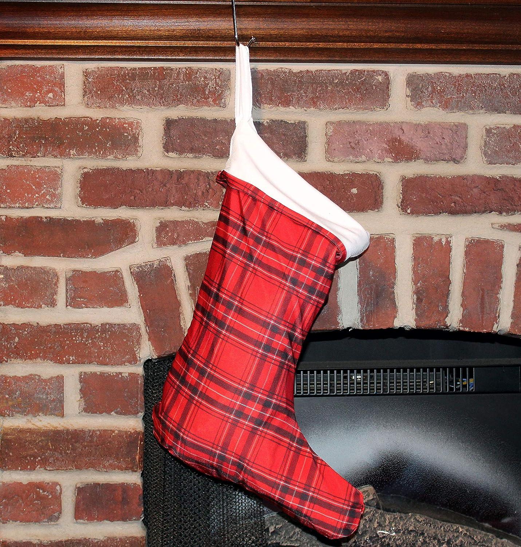 Washington Mall Plaid Christmas Stocking Fully Bargain Lined