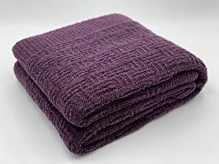 Nouveau Teddy polaire moelleux fauteuil lit fauteuil canapé plaid Aubergine Violet 150x200cm