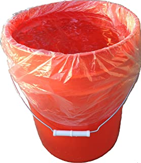 5 Gallon Bucket Liner Bag for Marinating and Brining - Disposable Pail Liner 25 per roll for 22 Qt. Cambro Poly Pail