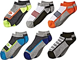 Jefferies Socks - Sporty Low Cut 6-Pack (Toddler/Little Kid/Big Kid/Adult)