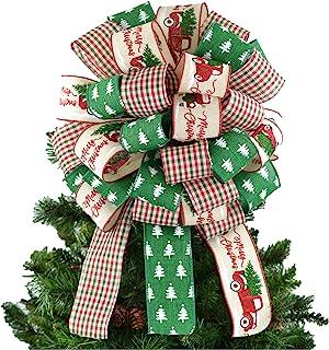 Amazon Com Christmas Tree Toppers Green Tree Toppers Seasonal Decor Home Kitchen