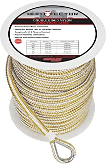 Extreme Max 3006.2249 BoatTector Double Braid Nylon Anchor Line with Thimble - 3/8