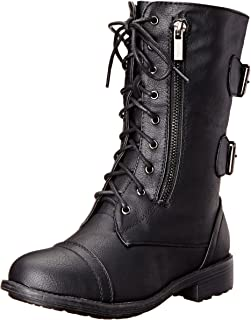 Top Moda Women's Pack-72 Lace Up Combat Boot