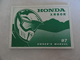 1997 Honda XR80 Owners Manual XR 80 R