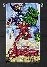 Sassoon Disney Marvel Avengers Printed 100% Cotton Kids Bath Towel with Gift Box
