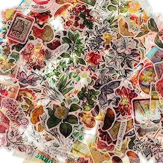 160 Pièces Autocollants Scrapbook Vintage Autocollants de Plantes Fleurs Vintage Stickers Champignon Papillon Rétro Autoco...