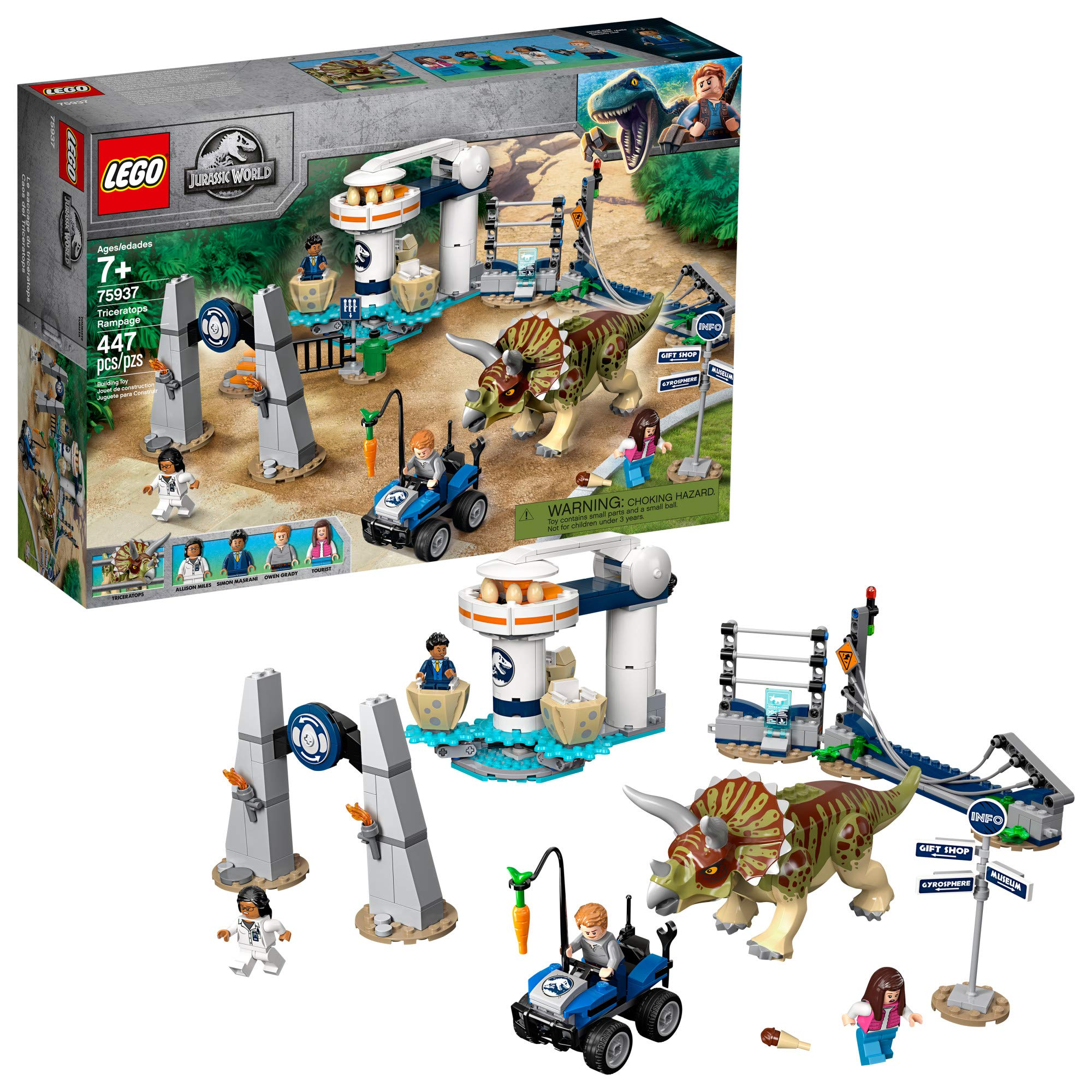 LEGO Jurassic Triceratops Rampage Pieces