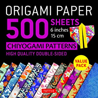"""Origami Paper 500 sheets Chiyogami Patterns 6"""" 15cm: Tuttle Origami Paper: High-Quality Double-Sided Origami Sheets Printe..."""