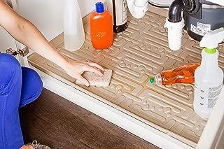 Xtreme Mats Under Sink Kitchen Cabinet Mat, 36 5/8 x 21 7/8, Beige