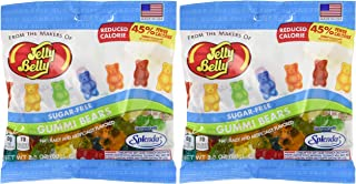 Assorted Sugar Free Splenda Jelly Belly Gummi Bears 2.8 Ounce Bag Reduced by 45% Calories - Pack of 6