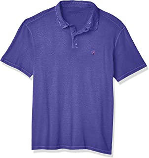 John Varvatos Star USA Men's Knoxville Short Sleeve Pigment RUB Peace Polo