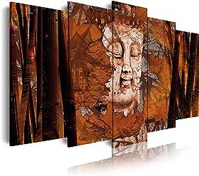 120x80cm stile zen-feng shui Budda Quadro moderno su tela  montato su telaio di legno di 1 pezzi Dekoarte 318