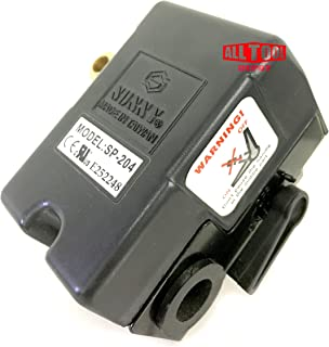 Replacement Air Compressor Control Switch, Sunny H4, 4 port, 140-175 PSI, 25 Amp