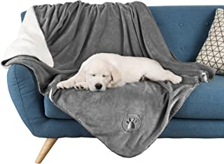 """Waterproof Pet Blanket-50""""x 60"""" Soft Plush Throw Protects Couch, Chairs, Car, Bed from Spills, Stains, or Pet Fur-Machine ..."""