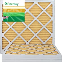 FilterBuy 20x20x1 MERV 11 Pleated AC Furnace Air Filter, (Pack of 4 Filters), 20x20x1 – Gold
