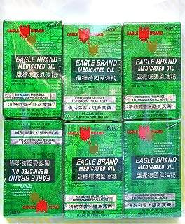 6 packs (Travel Size) Eagle Brand Medicated Oil 6 ml