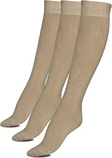Junix Women's Bamboo Knee High Socks 3 Pack Business Casual for Shoe Size 5-8 & 8-11