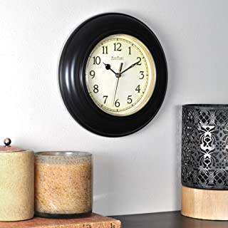 FirsTime & Co. FirsTime Bronze Plastic Wall Clock, 8.5