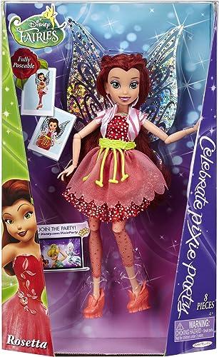 ROSELIA rosetta de la fée CLOCHETTE tinker bell poupée disney fairies CELEBRATE PIXIE PARTY