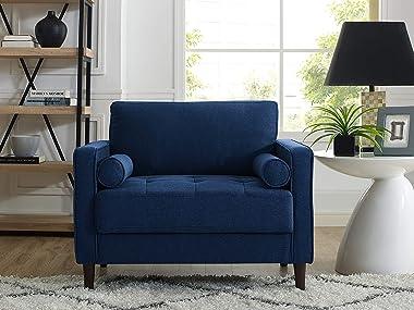 """Lifestyle Solutions Lexington armchairs, 39.80"""" W x 31.10"""" D x 33.50"""" H, Navy Blue"""