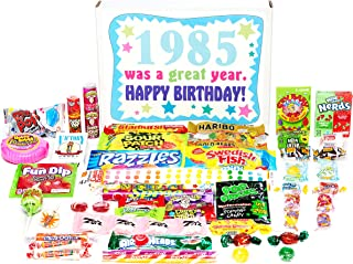 Woodstock Candy ~ 1985 34th Birthday Gift Box of Nostalgic Retro Candy from Childhood for 34 Year Old Man or Woman Born 1985