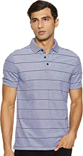 Men's Liquid Touch Polo Stripe with Uv Protection