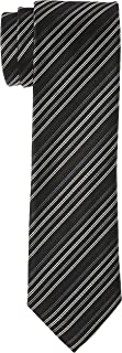 OCTAVE Men's Slim Luxury Woven Elegant Belief Style Necktie, Dark Black