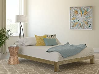 In Style Furnishings Stella Modern Metal Low Profile Thick Slats Support Platform Bed Frame - Full Size, Gold