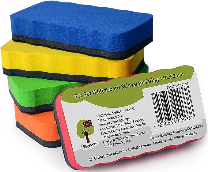 661 opinioni per OfficeTree Set 5 Cancellino Lavagna Magnetica Bianca- 5 colori- Cancellino