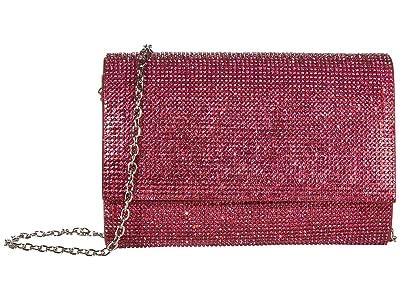 Jessica McClintock Alexis Sparkle Clutch (Magenta) Clutch Handbags