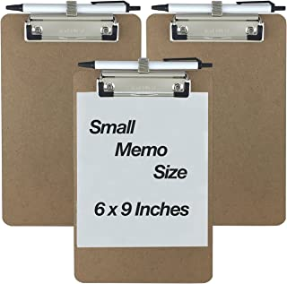 Trade Quest Pen Holder Memo Clipboards 6'' x 9'' (3 - Pack) (Pen Included)
