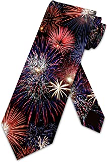 Fireworks Ties Patriotic Necktie 4th of July by Three Rooker