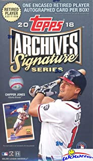2018 Topps Archives Signature Series Retired Edition MLB Factory Sealed HOBBY BOX with Encased AUTOGRAPH Numbered Buyback! Look for SIGNED ON-CARD Autographs of Sandy Koufax,Derek Jeter & More WOWZZER